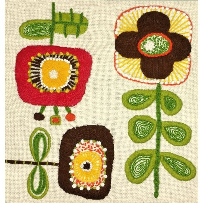 Weekend Kits Blog: Embroidery Kits with Modern Crewel Designs