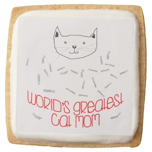 WORLD'S GREATEST CAT MOM - SHORTBREAD COOKIE By NewParkLane