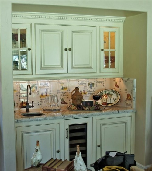 French Country Kitchen Green: French Country Butler's Pantry