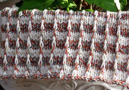 Knit Washcloths Pattern - Merry Stripes Washcloth