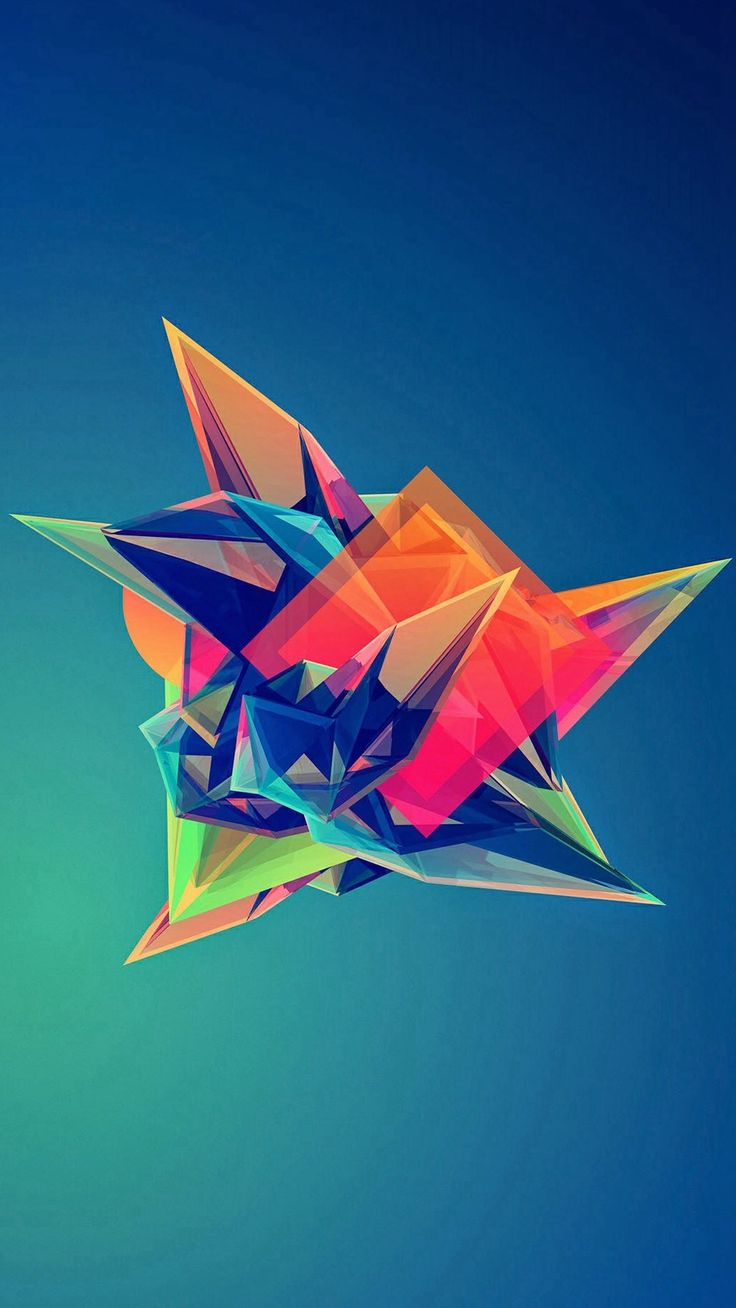 colorful cool abstract polygonal shape iphone 6 plus wallpaper