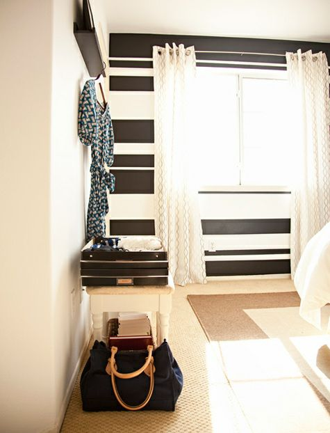 striped accent wall For The Home Pinterest