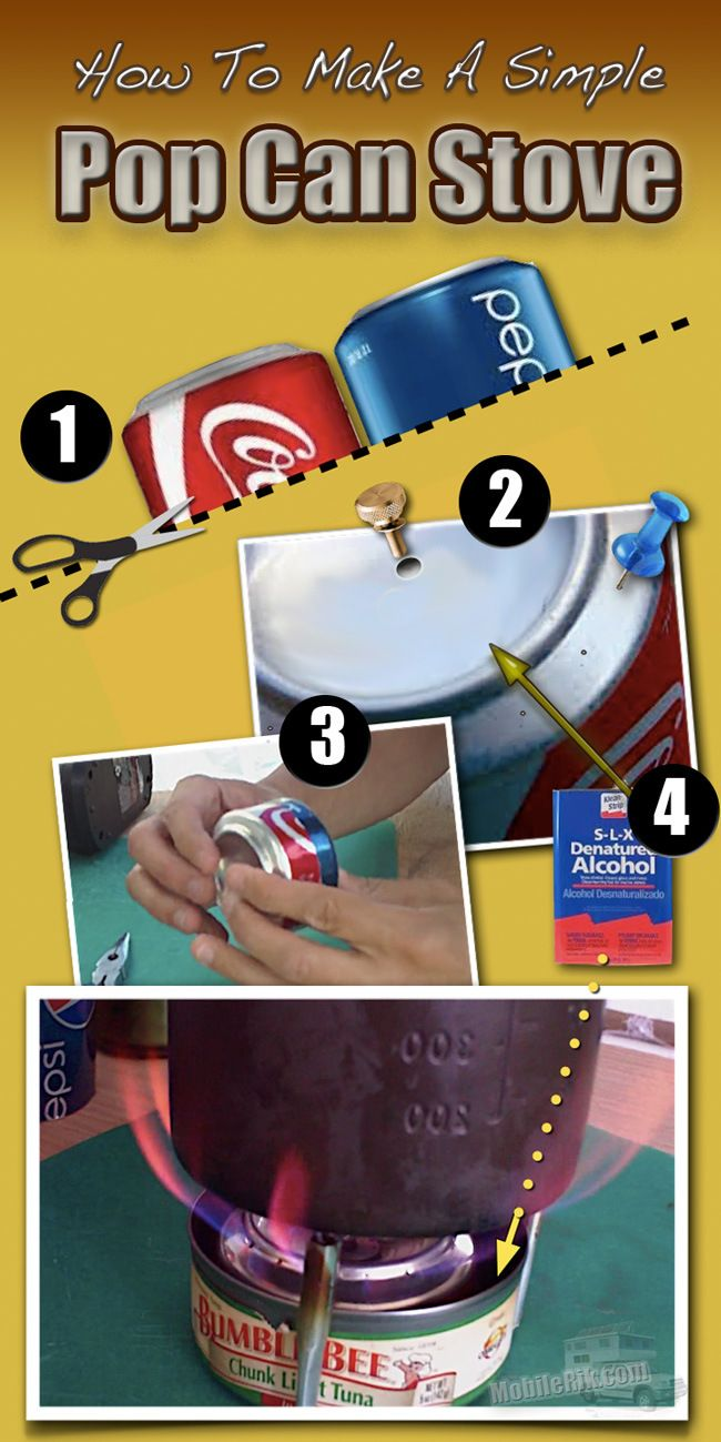 How To Make A DIY Alcohol Backpacking Stove From Soda Pop Cans | Mobile Rik - Living Off The Grid In A DIY RV Truck Camper