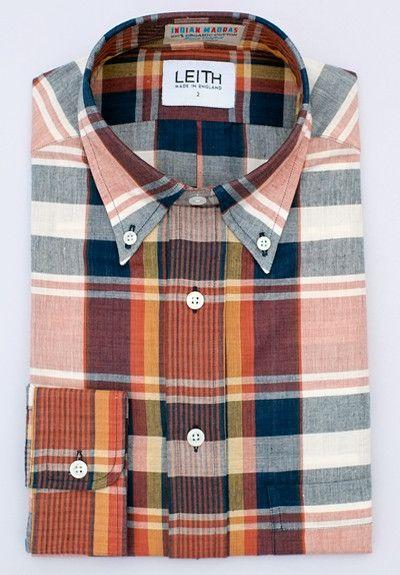 Indigo plaid Madras shirt