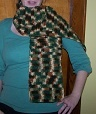 can be a ladies or mans scarf earth tones