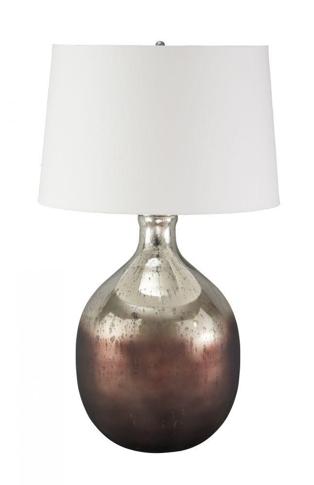 Tabish Mercury Glass/Brown Table Lamp