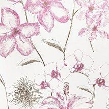 Акварельные розовые орхидеи на английских обоях для эстетов 267906 - Ампир Декор
