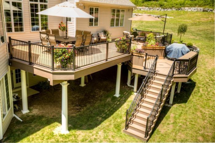 10 Design Ideas Determining Your Multi Level Decks Samoreals In 2020 Multi Level Deck Building A Deck Deck Design