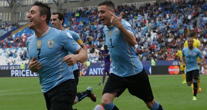 Con sufrimiento Uruguay vence 1-0 a Jamaica en Copa América. http://deportes.starmedia.com/futbol/copa-america-chile-2015/resultado-partido-uruguay-vs-jamaica-por-copa-america-2015.html?utm_content=bufferf17f0&utm_medium=social&utm_source=pinterest.com&utm_campaign=buffer