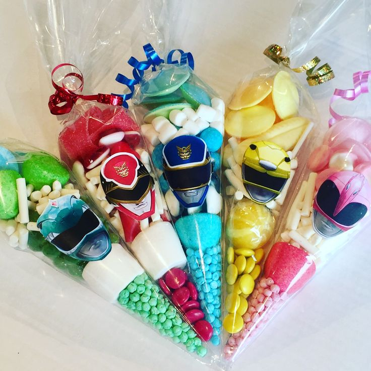 Power Rangers sweet cones