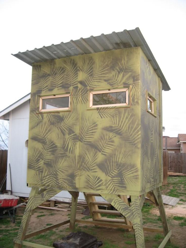 DIY DEER BLIND PLANS.... POST WHAT YOU HAVE - Texas Hunting Forum