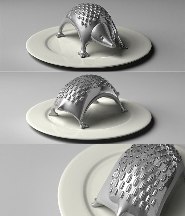 Hedgehog cheese grater.  Such an unnecessary thing to own, but it's so darn cute.Kitchens Design, Hedgehogs Grater, Cheese Grater, Chees Grater, Modern Kitchens, Kitchens Gadgets, Hedgehogs Chees, Products, Kitchens Tools