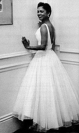 Dorothy Dandridge too cute in white...