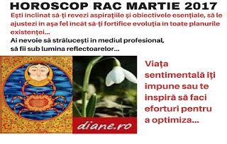 Horoscopul Racului martie 2017 insistă pe revizuirea legăturilor de prietenie şi întărirea celor ver...