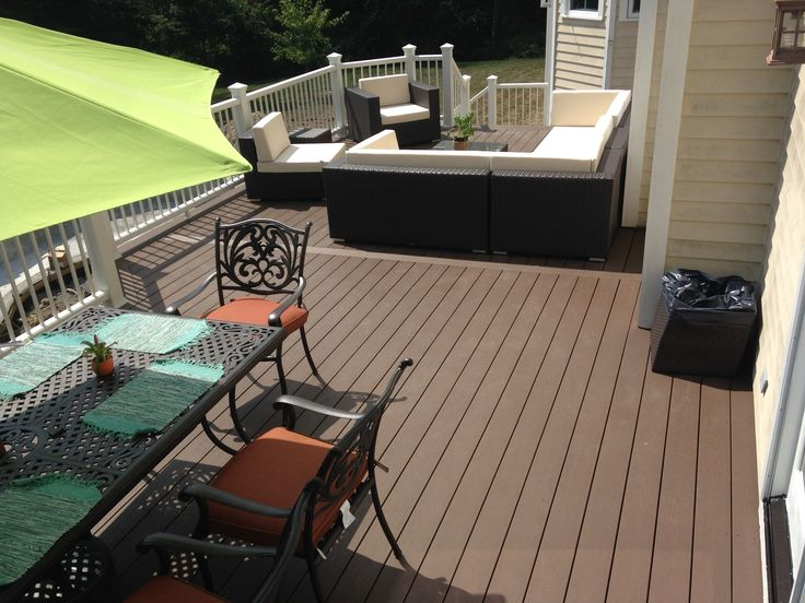 Customer selected timbertech terrain decking in rustic elm Terrain decking