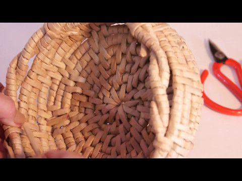 Ажурное окончание плетения плюс ручка в технике обмотка   oblacco