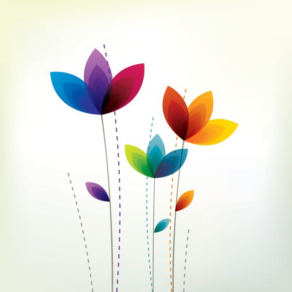 """#Colorful #Flowers"", #vector #graphic by DryIcons.com - available with Free, Commercial and Extended License."