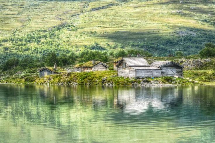 Beautiful summer morning at Gjendesheim in Jotunheimen National Park, Norway by Gunnar Kristian Kopperud