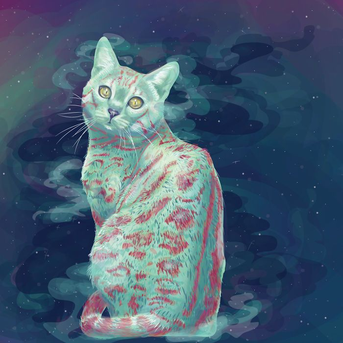 Animals In Space: My Vector Art Leaves People Questioning What The Medium Is | Bored Panda