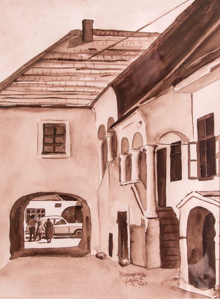 House 5 Mainstreet Mörbisch Watercolor on paper 40x50cm