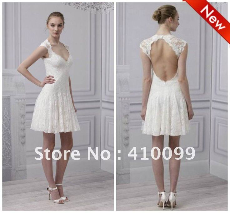 Chic Wedding Dresses Suppliers Detail Informationmodern Style 2017 Amazing V Neck A Line White Lace Liques Backless Short Bridal Nbs