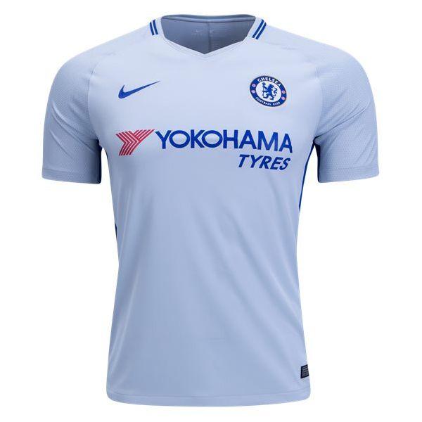 Nike Men S Chelsea 17 18 Away Jersey Pure Platnium Rush Blue In 2021 Soccer Jersey Jersey Shirt Shirts