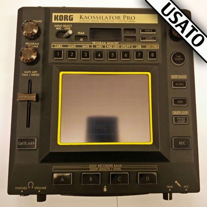 Korg Kaossillator Pro Usato. Dynamic Phrase Synthesizer e loop recorded.
