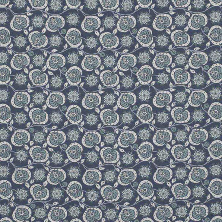 Warwick Fabrics : BOSTANI, Colour NIGHT
