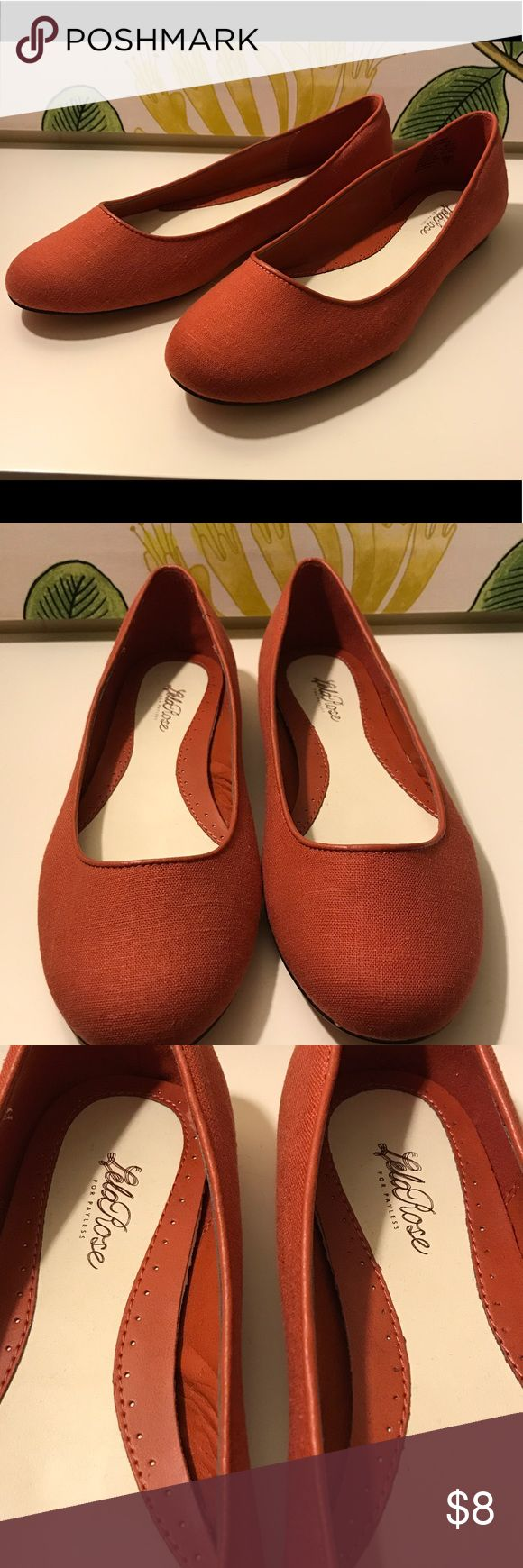 Lela Rose shoes for Payless Brand new burnt orange ballet flats. Last picture shows how great it is to bundle. Buy 3 get 15% off.No trades. No low offers. Shoes