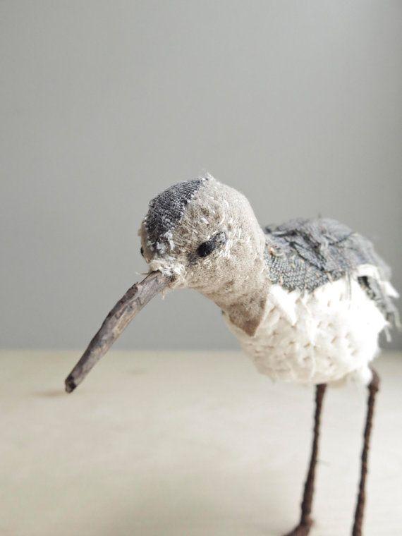 Sandpiper soft sculpture shore bird by ohalbatross. #SquidWhaleDesigns