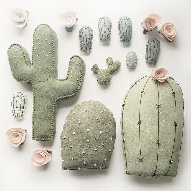 Adorable plush cactus creations//