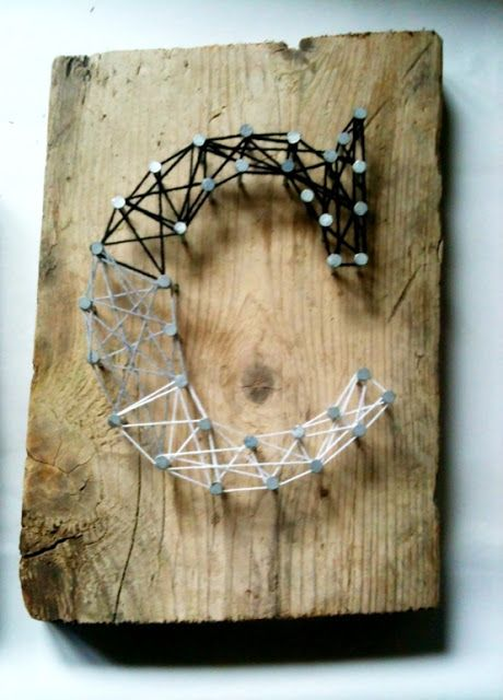 The Happy Homebodies: Easy DIY: String Art without the String