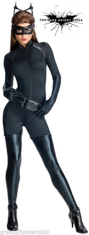 CATWOMAN DARK KNIGHT RISES COSTUME S SMALL Adult Sexy CAT WOMAN Anne Hathaway #SecretWishes #CompleteCostume