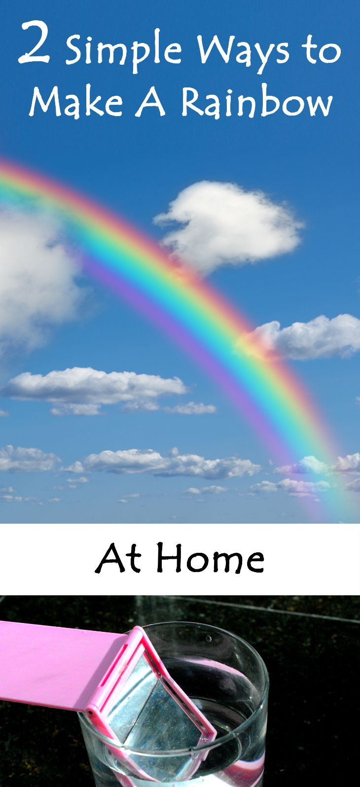 2 Super Easy Ways to Make A Rainbow At Home. My kid had a blast!