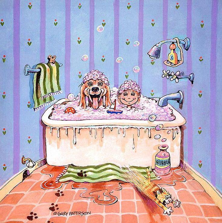 Рисунки ванн смешные