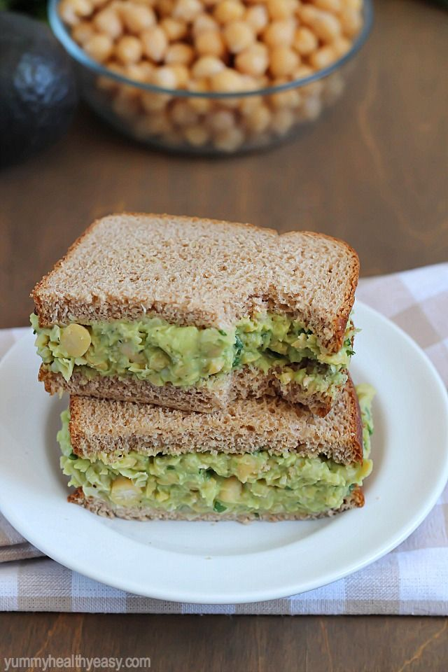 Avocado Chickpea Salad Sandwiches | Recipe | Cilantro ...