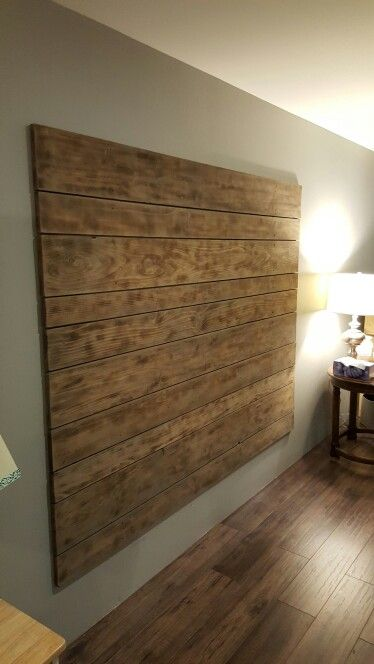 Slightly burned grey washed pine headboard