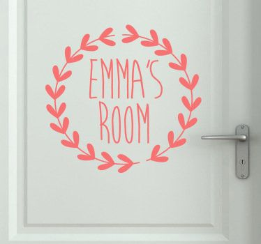Put the door of your little girl with the name of her! #sticker #beautiful #decoration