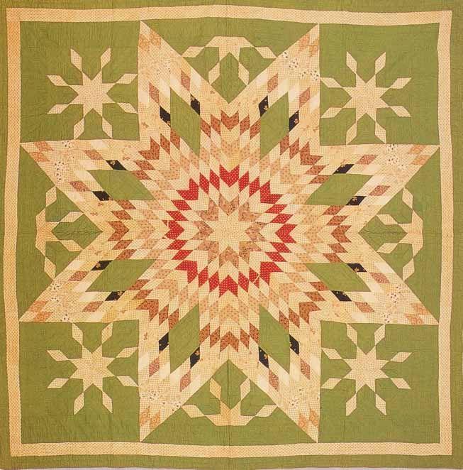 Lone Star Variation, c1880. Made by Eliza Miranda Allen Green. Ohio.