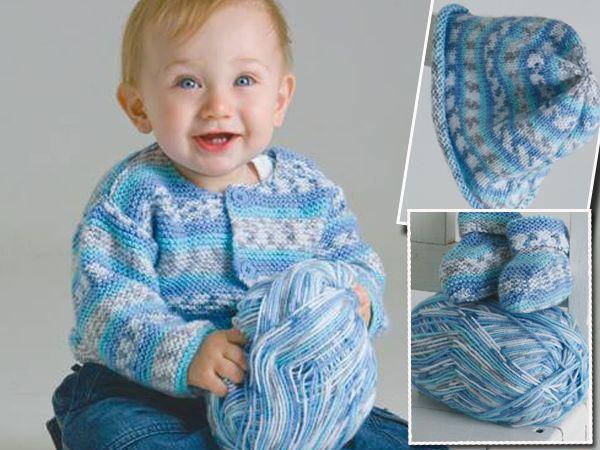 Warmgoed vir kleingoed. Klik vir patroon vir babastel in hierdie oulike wol.