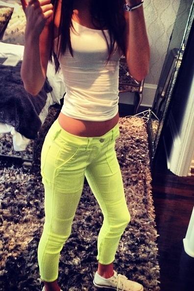Best 25 Neon Pants Ideas On Pinterest Lime Green Pants