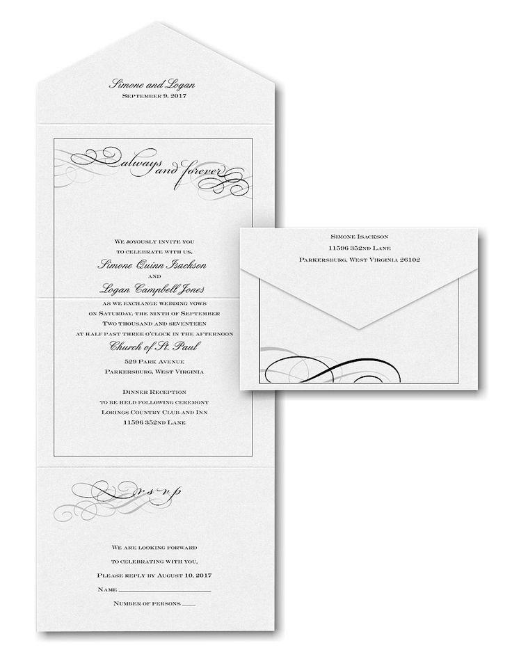228 best seal n send wedding invitations images on pinterest faithful words in white seal n send wedding invitation junglespirit Images