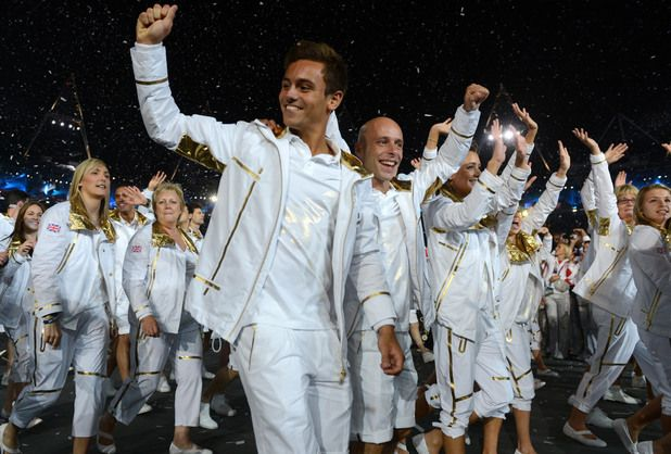 Tom Daley during the team parade at the London Olympic Games 2012 Opening Ceremony.