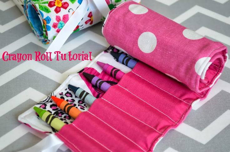 Crayon Roll Tutorial. So easy to make and such a convenient way to tote your kids crayons around, on the go or at home. Great sewing tutorial!