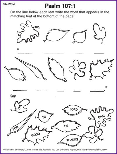 Write Psalm 107 1 Using Picture Clues Kids Korner Coloring Pages A Psalm Of Thanksgiving