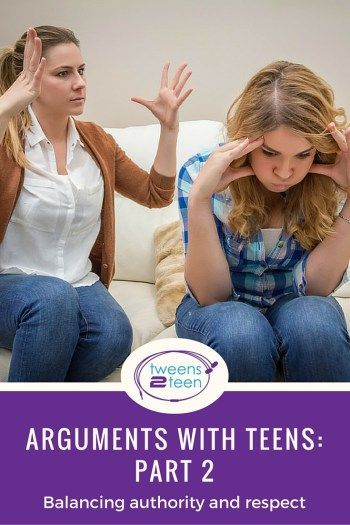 Part 2 in my series on arguments with teens. This one looks at the difference between authority and respect.