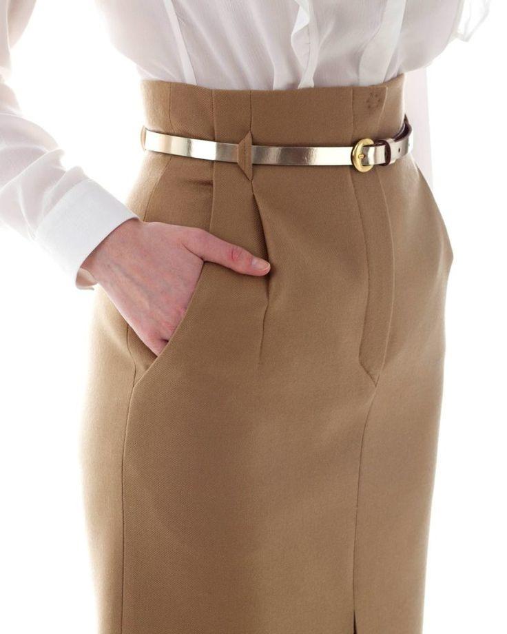 Стильная юбка-карандаш с высокой талией — 15 ...