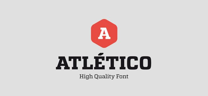 Atletico font by Stereotypes - a fresh contemporary Slab Serif