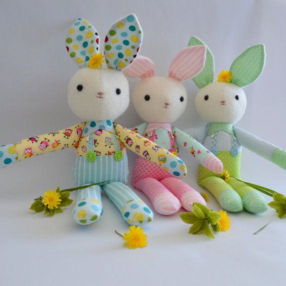PDF sewing pattern soft toy Stuffed doll Plushie   by GEESPROJECTS