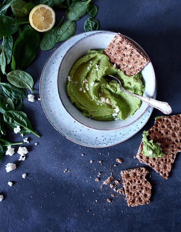 St[v]ory z kuchyne | Spinach Hummus (Gluten Free)